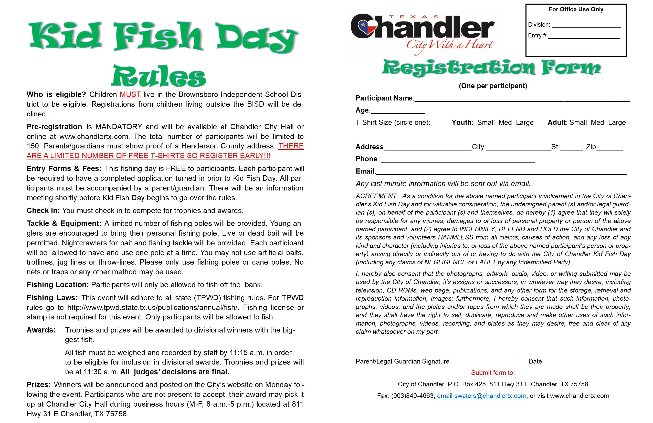 Kid Fish Day Flyer