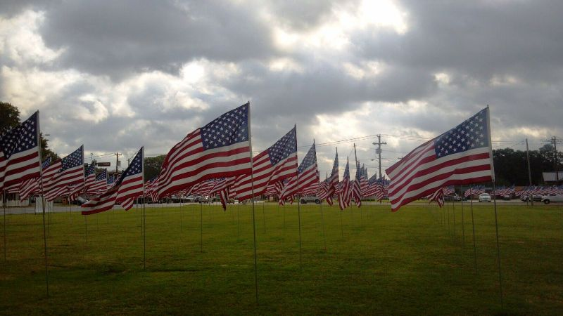 Memorial Day Flag Display